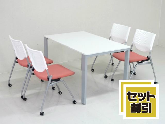 27165 木製家具・応接セット・応接・会議セット 商品説明へ:中古オフィス家具・楽市
