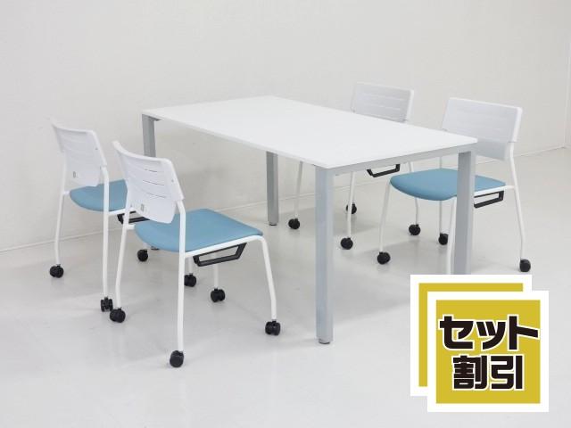 30095 木製家具・応接セット・応接・会議セット 商品説明へ:中古オフィス家具・楽市