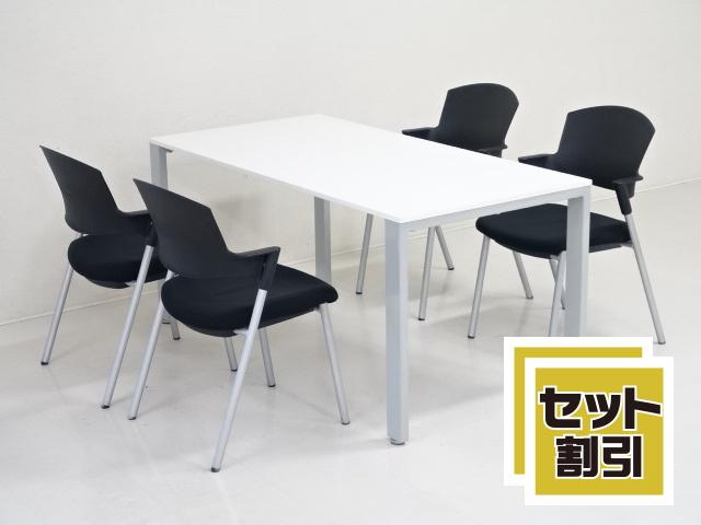 30145 木製家具・応接セット・応接・会議セット 商品説明へ:中古オフィス家具・楽市
