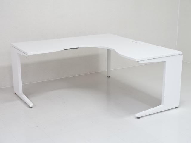 25703 デスク・L型・ラウンドデスク 商品説明へ:中古オフィス家具・楽市